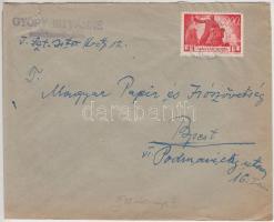 1946 (7. díjszabás) Helyi levél 250g-ig Újjáépítés 3000P bérmentesítéssel