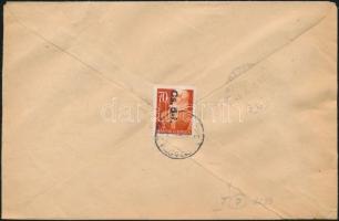 1946 (7. díjszabás) Távolsági levél Betűs I. Cs.5-I./70f bérmentesítéssel