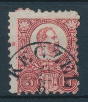 1871 Réznyomat 5kr / Mi 10 KECZEL