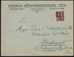 1946 (7. díjszabás) Távolsági levél (céges boríték) Betűs II. Tl.2./10f bérmentesítéssel