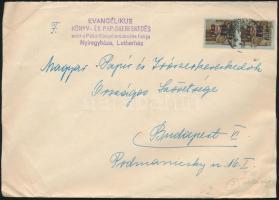 1946 (7. díjszabás) Távolsági levél 2x Betűs Hl.2./40f bérmentesítéssel