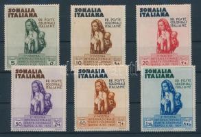 1934 Nemzetközi gyarmati kiállítás postai értékek Mi 197-202