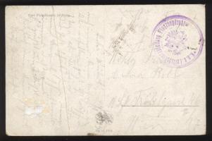 1915 Képeslap / Postcard KuK Luftschifferabteilung Flugzeugdepot