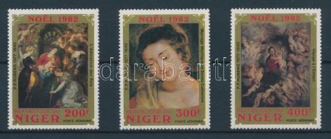 1982 Karácsony: Rubens festmények sor Mi 822-824
