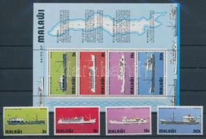 1975 Hajók sor Mi 242-245 + blokk 39