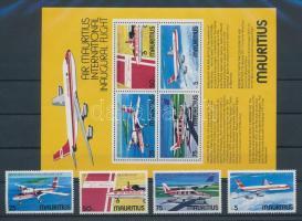 1977 Légi közlekedés sor Mi 432-435 + blokk 6