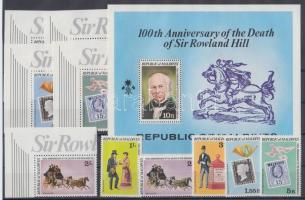 1979 Rowland Hill halálának 100. évfordulója sor Mi 816A-820A + 816C-820C + blokk 56