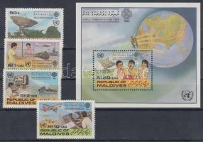 1983 A kommunikáció éve sor Mi 1018-1021 + blokk 91