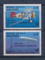 1984 UPU Kongresszus Hamburgban sor Mi 1041-1042