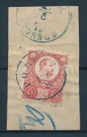 1871 Réznyomat 5kr / Mi 10 kék/blue POLGÁR