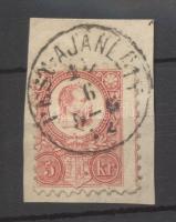 1871 Réznyomat 5kr PEST-AJÁNLOTT / 5-6