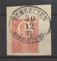 1871 Réznyomat 5kr DEBRECZEN / AJÁNLOTT SZ.