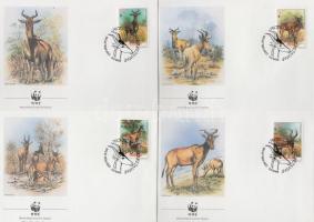 1991 WWF: Antilop sor Mi 1231-1234 4 db FDC-n