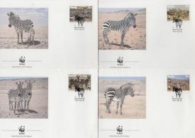1991 WWF: Zebra sor Mi 702-705 4 db FDC-n