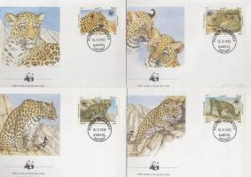 1985 WWF: Leopárd sor Mi 1453-1456 4 db FDC-n