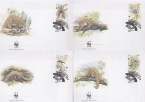 1995 WWF: Tobzoska sor Mi 795-3798 4 db FDC-n