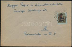 1946 (7. díjszabás) Helyi levél Betűs Hl.2./40f bérmentesítéssel (a teteje levágva)