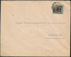 1946 (7. díjszabás) Helyi levél Betűs Hl.2./40f bérmentesítéssel