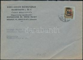 1946 (7. díjszabás) Helyi céges levél Betűs Hl.2./40f bérmentesítéssel