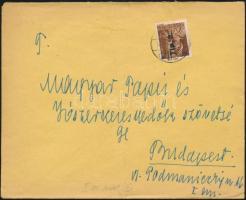 1946 (7. díjszabás) Helyi levél Betűs Tlp.2./4f bérmentesítéssel