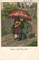 Children, A.R. Nr. 1448. litho s: Pauli Ebner, Gyerekek, A.R. Nr. 1448. litho s: Pauli Ebner