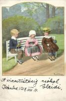 Children, M. Munk Nr. 1270. litho s: Pauli Ebner, Gyerekek, M. Munk Nr. 1270. litho s: Pauli Ebner