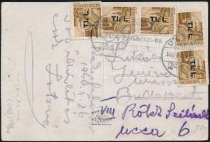 1946 (7. díjszabás) Távolsági képeslap 5x Betűs Tl.I./4f túlbérmentesítve