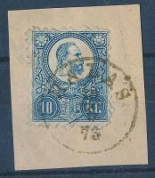 1871 Réznyomat 10kr HALAS