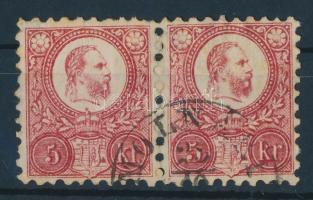1871 Réznyomat 5kr pár MOLNARI (VAS MEGYE)
