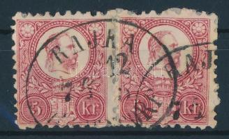 1871 Réznyomat 2 x 5kr RAJKA RAGENDORF