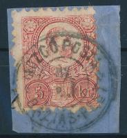 1871 Réznyomat 5kr (regiszterhajtás) MOZGÓ POSTA BÁZIS PEST 3