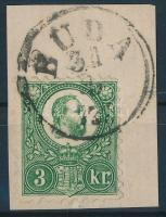 1871 Réznyomat 3kr BUDA