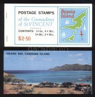 Maps of the island 7 stamp-booklets, A szigetek térképei 7 db bélyegfüzet