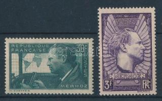 1937 Jean Mermoz halálának első évfordulója sor Mi 343a, 344b