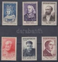 1954 Híres emberek sor Mi 1015-1020