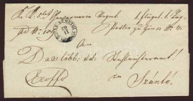 1858 Ex offo HIDAS-NÉMETHI - ABAÚJ SZÁNTÓ
