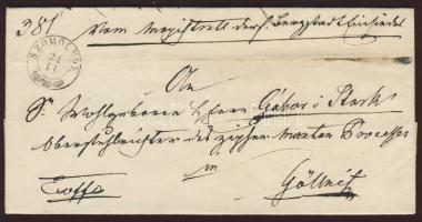 1862 Ex offo SZOMOLNOK - GÖLLNITZ