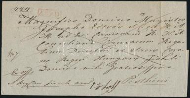 1843 Ex offo, piros / red ARAD - Pesthini