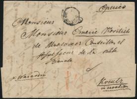 1831 Portós levél, szövegében a kolera járványt említve / cover with postage due, partly regarding cholera EPERIES - Kreutz