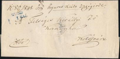 1848 Ex offo kék / blue FOGARAS. - Kolozsvár