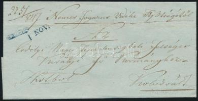 1847 Ex offo kék negatív / blue negative FOGARAS. - Kolozsvár
