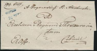 1847 Ex offo kék / blue FOGARAS. - Cibinii
