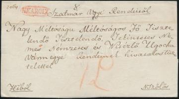 1832 Ex offo piros / red N:KAROLY - N.Szőlős