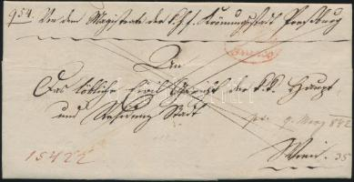 1842 Franco piros / red Presburg / Franco - WIEN