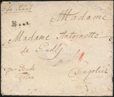 1788 Portós levél / cover with postage due Raab. - Csengelicz