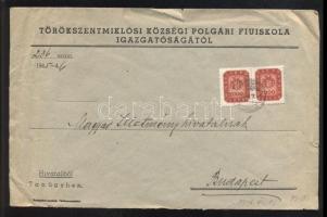 1946 (19. díjszabás) Távolsági levél 2x 2000mp bérmentesítéssel