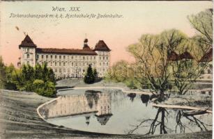 Vienna Türkenschanzpark with the University of Agricultural Sciences, Vienna Türkenschanzpark az Agrártudományi Egyetemmel