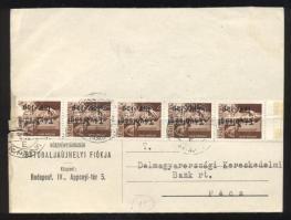 1946 (15. díjszabás) Távolsági levelezőlap 5x Betűs III. Távolsági lev.-lap/ 4f bélyeggel bérmentesítve (bal oldalon betépődött)