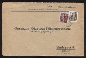 1946 (15. díjszabás) Távolsági levél Betűs III. Távolsági levél/ 18f + Csomag 10kg/30f bélyegekkel