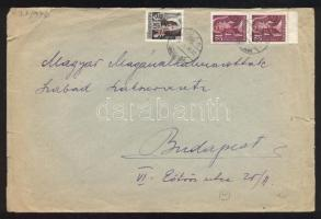 1946 (15. díjszabás) Távolsági levél 15x Betűs III. Távolsági levél/ 18f + 2x Ajánlás/ 24f bérmentesítéssel